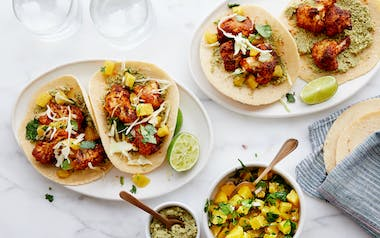 Cauliflower Tacos with Citrus Salsa