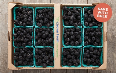 Flat of Organic Blackberries