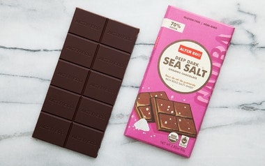 Organic Deep Dark Sea Salt Chocolate Bar (70%)