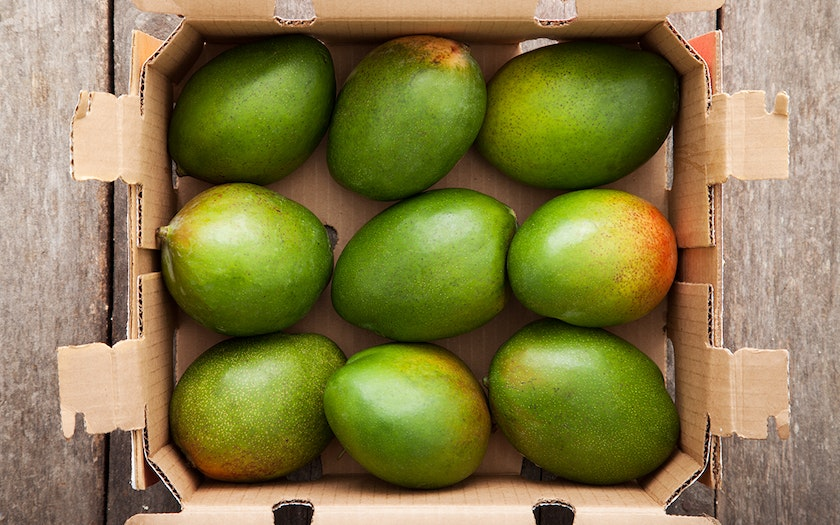 Case of Organic California Keitt Mangos