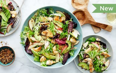 Chicken Salad with Apples & Crispy Seeds