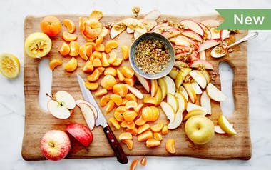 Winter Fruit Platter with Seed Honey