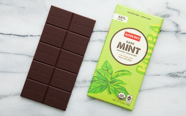Organic Dark Mint Chocolate Bar (60%)