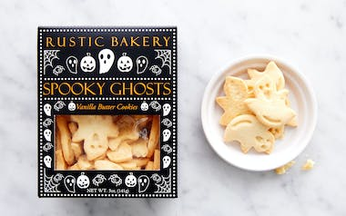 Spooky Ghost Vanilla Butter Cookies