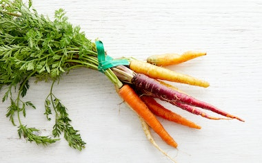 Bunched Baby Rainbow Carrots