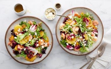 Citrus Shrimp Salad with Beets & Oranges