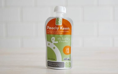 Organic Peachy Keen Baby Food Puree (Level 1)