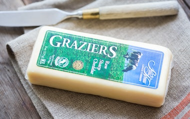 Graziers Raw Milk White Sharp Cheddar