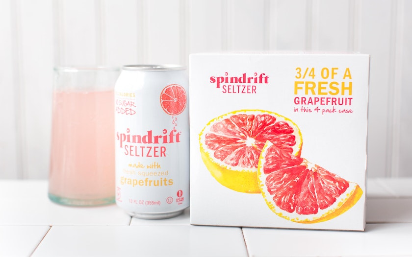 Grapefruit Seltzer Water