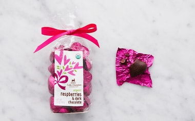 Organic Raspberry & Dark Chocolate Hearts