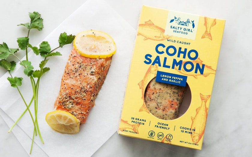 Coho Salmon with Lemon Pepper & Garlic (Frozen)
