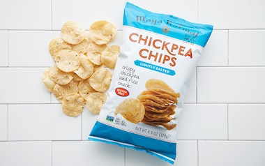 Lightly Salted Chickpea Chips (Gluten-Free)