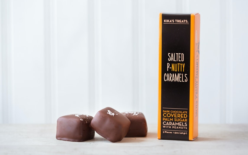 Salted P-Nutty Dark Chocolate Caramels