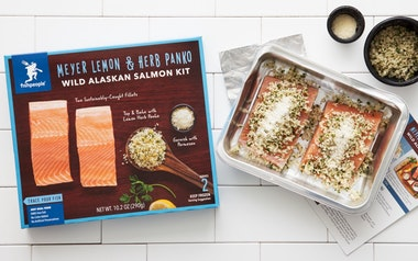 Meyer Lemon & Herb Panko Wild Alaskan Salmon (Frozen)