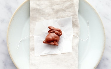 Organic Milk Chocolate Placesetting Bunny