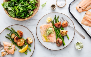 Roasted Salmon with Asparagus & Potatoes