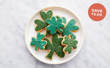 Hand-Decorated Shamrock Shortbreads