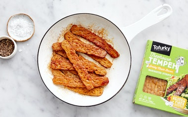 Maple Bacon Tempeh Strips
