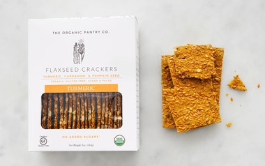 Organic Turmeric Flaxseed Crackers