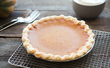 Fresh Roasted Pumpkin Pie