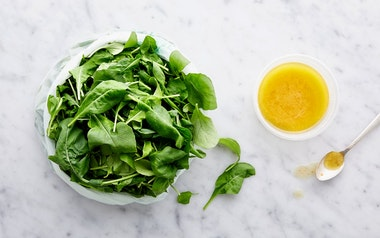 Pre-Washed Baby Arugula with Meyer Lemon Vinaigrette