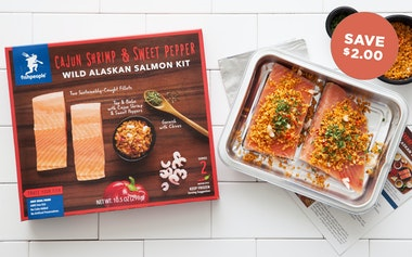 Cajun Shrimp & Sweet Pepper Wild Alaskan Salmon (Frozen)