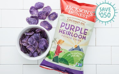 Purple Heirloom Coconut Oil Potato Chips