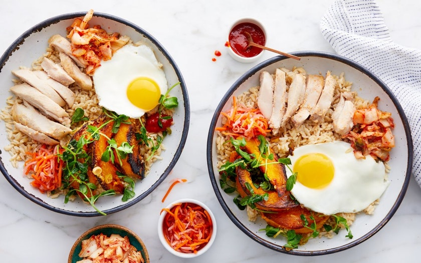 Korean Rice Bowls Bibimbap With Kabocha Kimchi Good Eggs Meal Kits Sf Bay Good Eggs