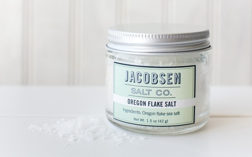Jar of Pure Flake Finishing Salt