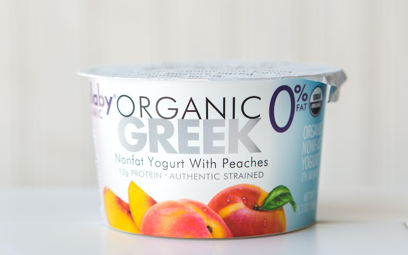Organic Peach Nonfat Greek Yogurt