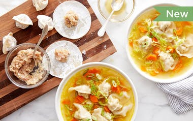 Wonton Soup with Savoy Cabbage