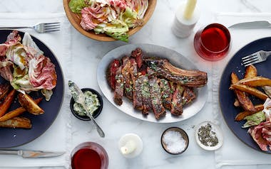 Date-Night Prime Rib Steak with Potatoes & Herb Butter