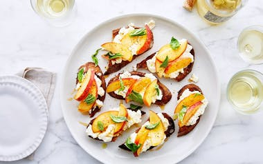 Crostini with Ricotta & Peaches