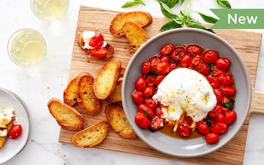 Burrata Cheese with Burst Cherry Tomatoes