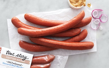 Pasture Raised Old-Fashioned Uncured Beef Hot Dogs