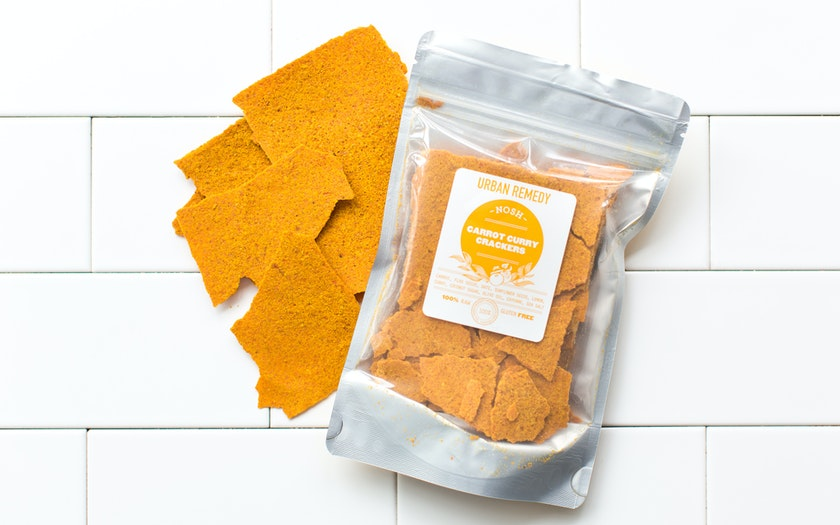 Carrot Curry Crackers