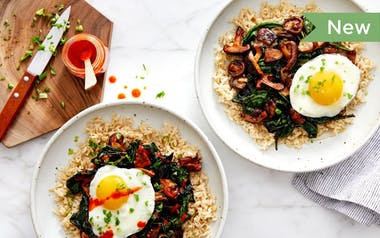 Brown Rice Bowls with Shiitakes & Kale