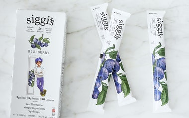 Lowfat Blueberry Icelandic Yogurt Tubes