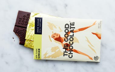 Zero Sugar 65% Ginger Dark Chocolate Bar