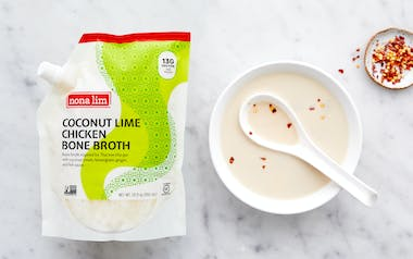 Coconut Lime Chicken Bone Broth