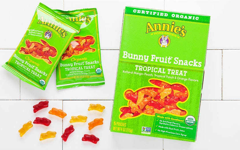 Organic Tropical Treat Bunny Fruit Snacks (Vegan)