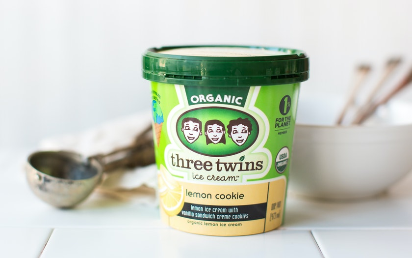 Organic Lemon Cookie Ice Cream