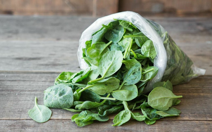 Pre-Washed Organic Baby Spinach