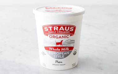 Organic Plain Whole Milk Yogurt