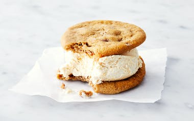 Salted Chocolate Chip Cookie & Peanut Butter Ice Cream Sandwich