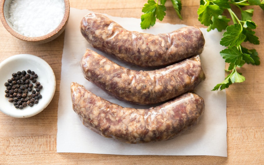 Garlic and Ginger Beef Sausage (Frozen)