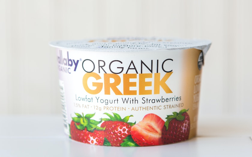 Organic Strawberry Lowfat Greek Yogurt