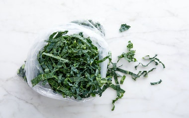Washed Lacinato Kale Ribbons
