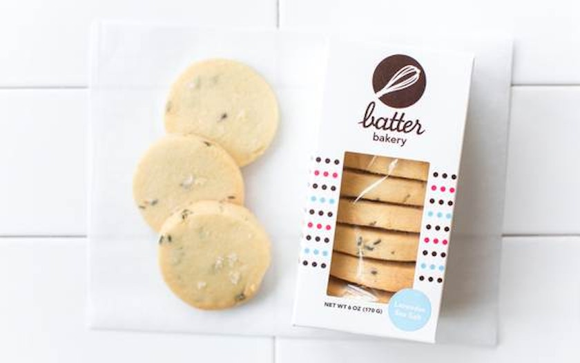 Lavender Sea Salt Shortbread Minis