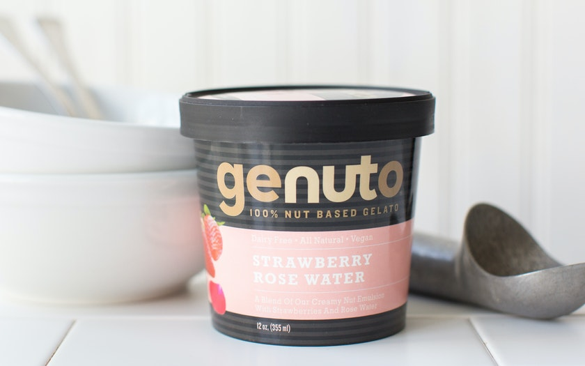 Strawberry Rose Water Dairy-Free Gelato